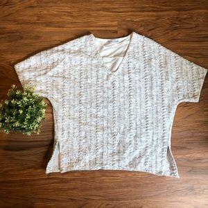 Zara Salt & Pepper Cable Knit Sweater Tee